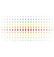 person spectrum halftone effect vector image vector image