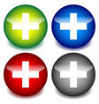 plus cross icons for healthcare first-aid concepts vector image