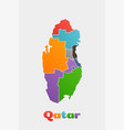 Qatar provinces map concept for political regions