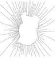 Radial cracks on broken glass vector image vector image