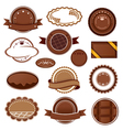 set chocolate badges and labels vector image vector image