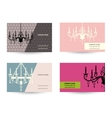 set of Business card template with chandelier vector image vector image