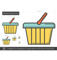shopping basket line icon vector image vector image
