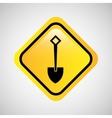 shovel tool construction icon yellow design vector image