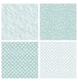 simple hand-drawn seamless patterns set vector image vector image