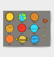 Sketch planets in vintage style vector image vector image