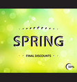 stylish spring horizontal poster final sale green vector image vector image