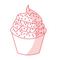 sweet and delicious cupcake isolated icon vector image vector image