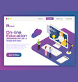 university on-line isometric vector image vector image
