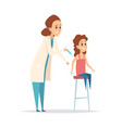 vaccination flu virus protection nurse syringe vector image vector image