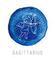 Watercolor of the archer Sagittarius vector image vector image