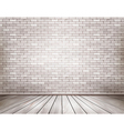 White brick room vector image vector image