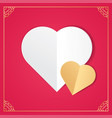 white paper cut love heart for valentines day vector image vector image