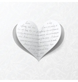 White wedding card with paper heart vector | Price: 1 Credit (USD $1)