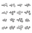 wind icons linear style symbols vector image vector image