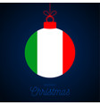 year ball with italy flag greeting vector image