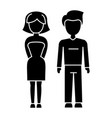 young couple mand and woman icon vector image vector image