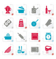 stylized cooking tools icons vector image
