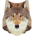 low poly wolf head vector image