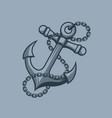 anchor sailors symbol tattoo style vector image vector image