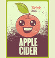 apple cider typographical vintage grunge poster vector image