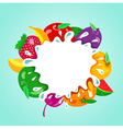 assorted fruit splash element vector image