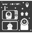 Baby monitors design element white vector image vector image