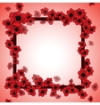 Background and floral frame with poppies vector image