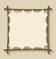 bamboo frame background vector image