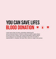 banner of blood donor day style vector image vector image