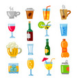 beverages icons set vector image vector image