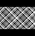 black white plaid checked seamless pattern vector image vector image