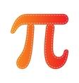 Bowling sign Orange applique vector image vector image