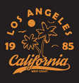 california typography for design clothes t-shirt vector image vector image