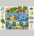 car insurance cases infographic horizontal banners vector image vector image