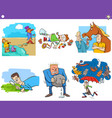 cartoon sayings or proverbs set vector image vector image