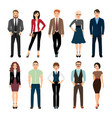 casual office people icons set vector image vector image