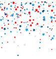 celebration confetti in national colors of usa vector image vector image