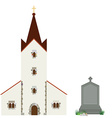 Church and gravestone vector image vector image