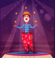 circus show funny clown vector image