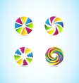 Colors circle corporate logo set vector image vector image