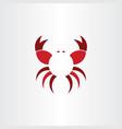 crab logo symbol icon vector image vector image