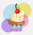 cute cat cupcakes vector image