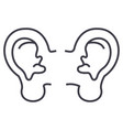 ear line icon sign on vector image