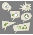 ecology icons in speech bubbles collection vector image vector image