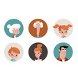 family icons vector image