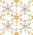 Festive seamless pattern with gold-colored vector image vector image
