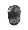 fingerprint icon silhouette on white background vector image