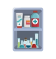 first aid kit medical equipment vector image vector image