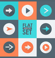 flat arrow icons set vector image vector image